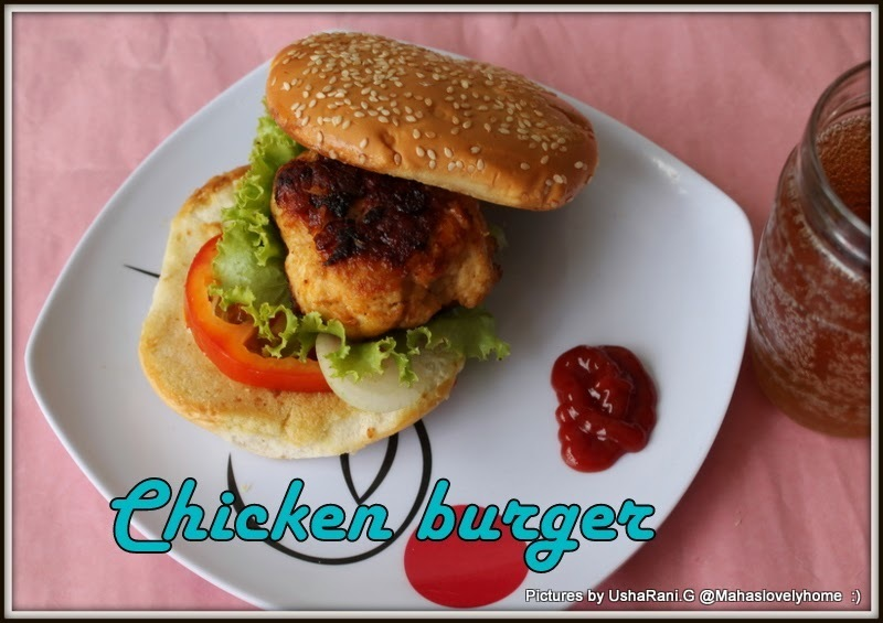 Quick and easy Indian method chicken patty for burger | Indian style garlic soya flavored chicken patties for burger | spicy ground chicken patties for burger | How to make chicken patties with step by step images