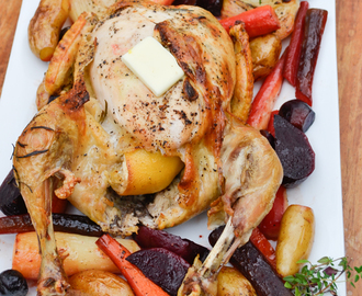 Paleo Roast Chicken with Vegetables