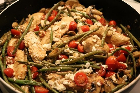 One Skillet Chicken And Green Beans