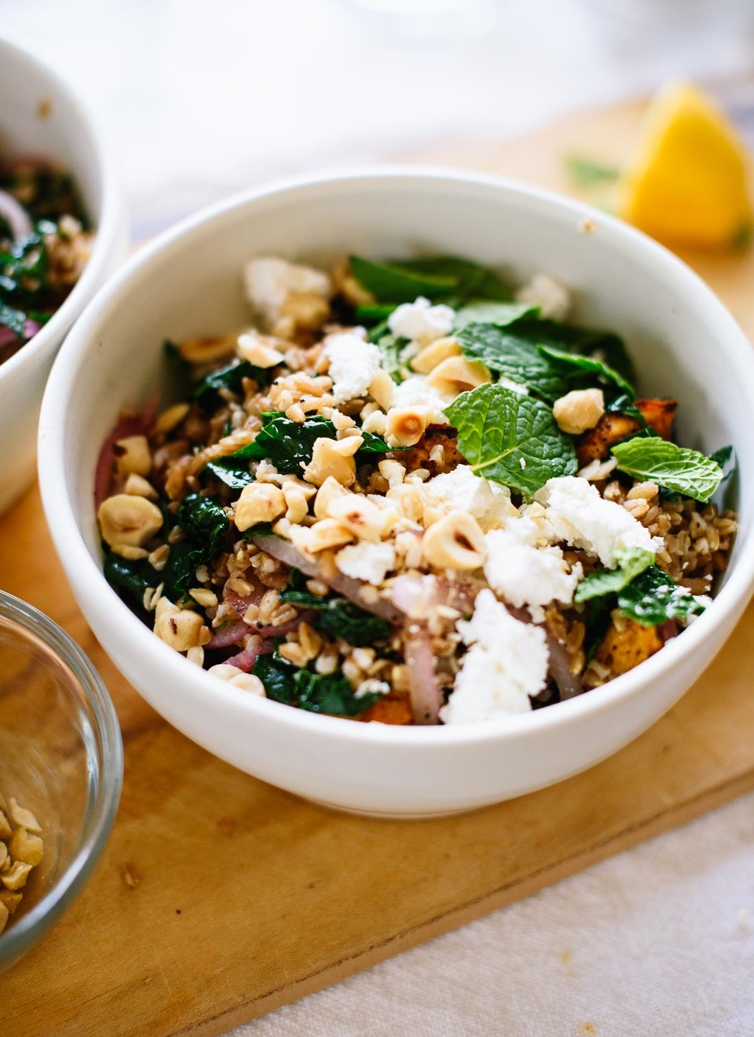 Mediterranean Roasted Sweet Potato & Farro Salad