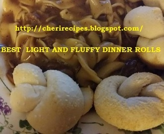 BEST LIGHT AND FLUFFY DINNER ROLLS