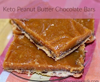 Keto Peanut Butter Chocolate Bars