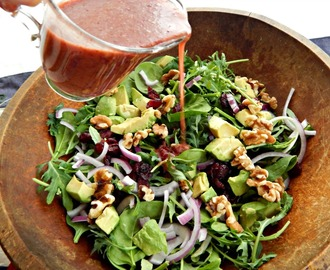 Dried Cranberry, Walnut & Avocado Salad