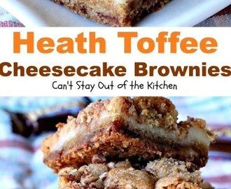 Heath Toffee Cheesecake Brownies