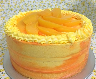 Cheese Chiffon Cake with yuzu passionfruit frosting