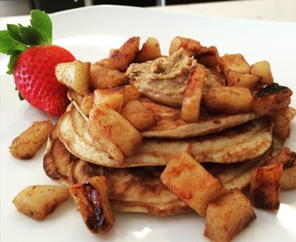 Paleo Pancakes with Almond Butter & Apples