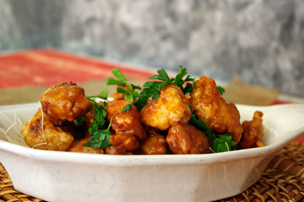 Crispy Honey Sriracha Chicken