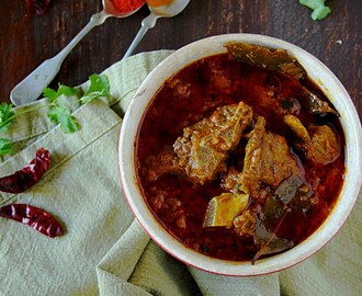 Spicy Mutton Curry {Rajasthani Laal Maas}