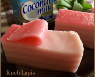 Steamed Layered Coconut Cake 九层糕 (Kueh Lapis)