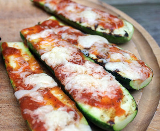 Grilled Pizza Zucchini Boats