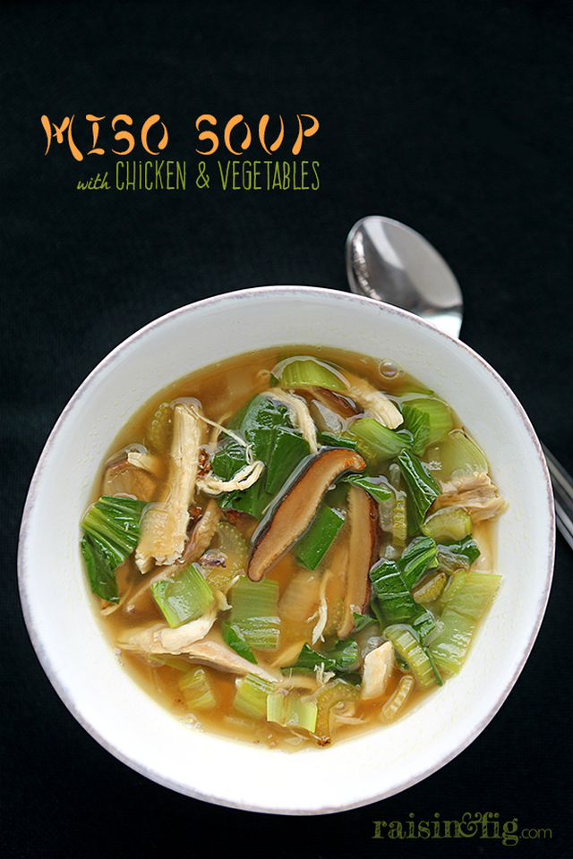 Miso Soup with Chicken & Vegetables