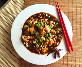 Easy Vegan Kung Pao Cauliflower