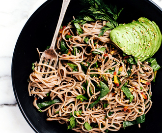 Soba Noodles from The Rawsome Vegan Cookbook by Emily von Euw + A Giveaway!