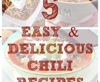5 Easy and Delicious Chili Recipes