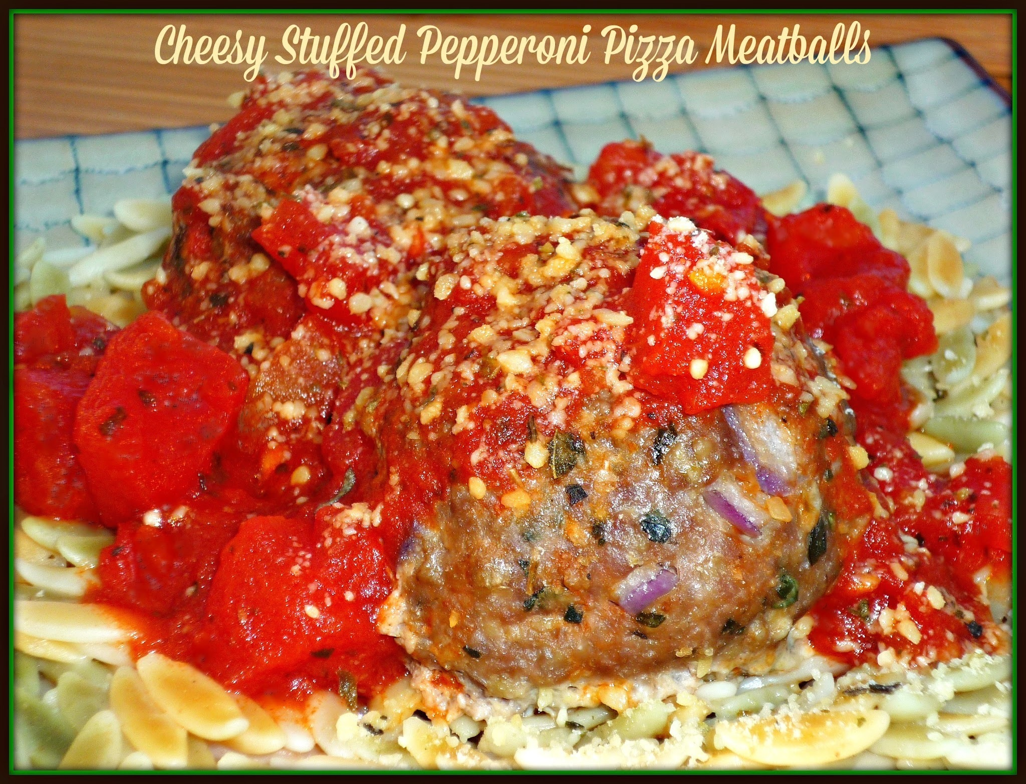 Meatball #SundaySupper...Featuring Cheesy Stuffed Pepperoni Pizza Meatballs
