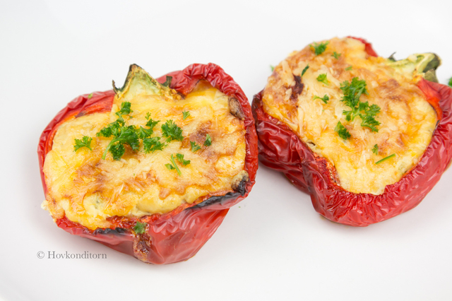 Ricotta stuffed Bell Peppers