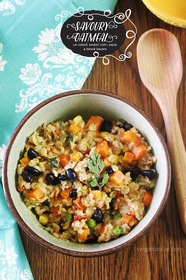 Savoury Oatmeal | Healthy & Delicious Savoury Breakfast | Vegan