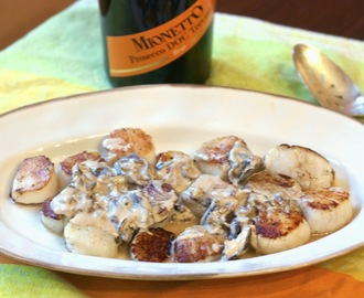 Scallops in Prosecco Sauce  #Mionetto Prosecco Brut D.O.C.  #Weekly Menu Plan