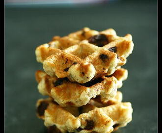 Oatmeal Chocolate Chip Waffle Cookies  สูตรแม่ปูค่ะ