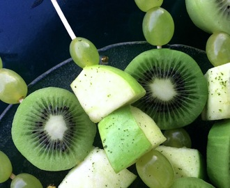 Green Fruit Skewers for St. Patrick's Day Party