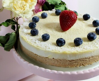 Raw Tropical Mango Cashew Cream Cake