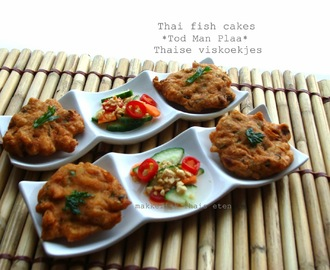 Thai fish cakes or Thaise viskoekjes/ Perfect idea for a party ทอดมันปลา
