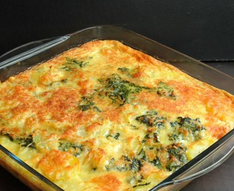 Crustless Spinach & Potato Quiche