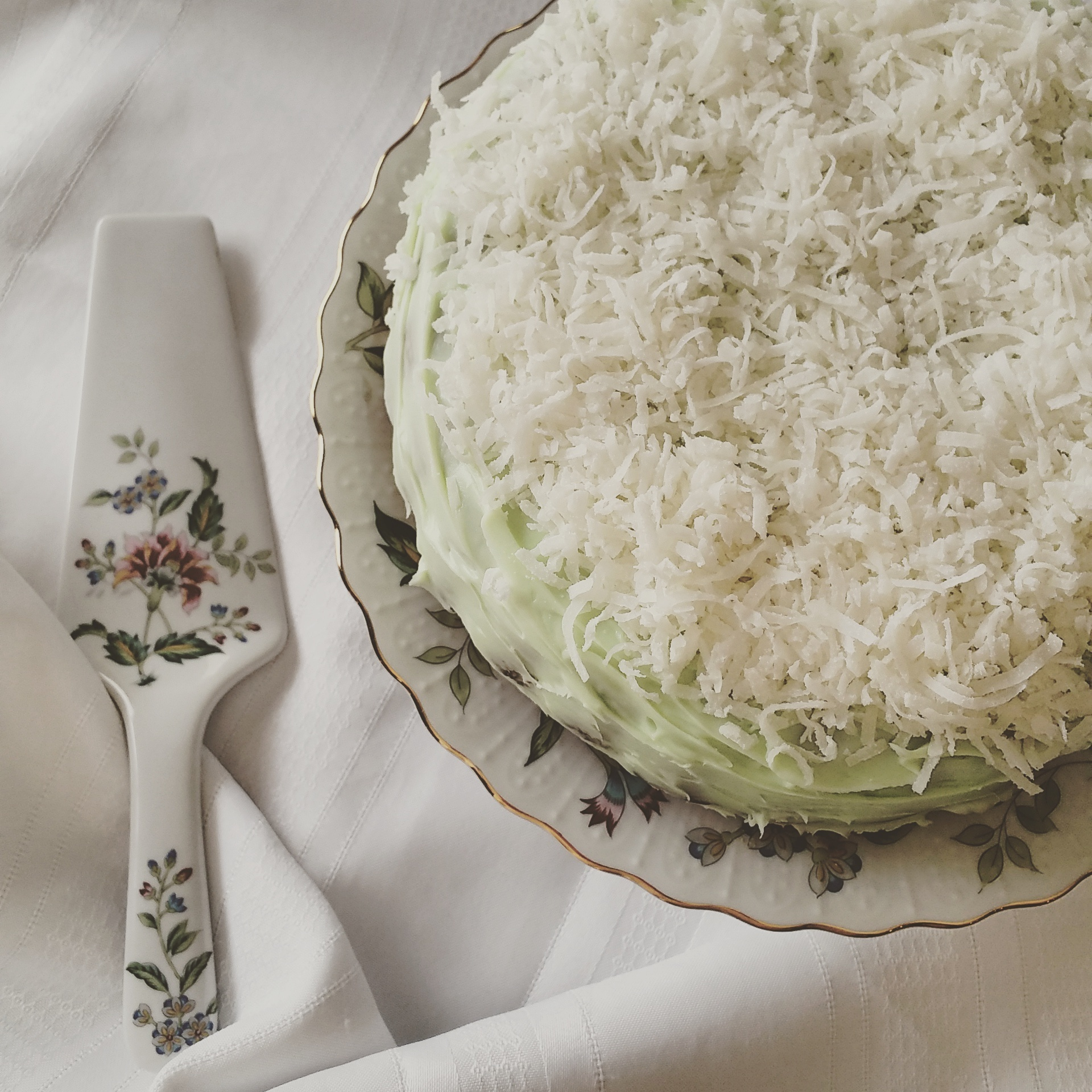 Blue Ribbons & The State Fair | Coconut Cake with Cream Cheese Key Lime Curd Frosting