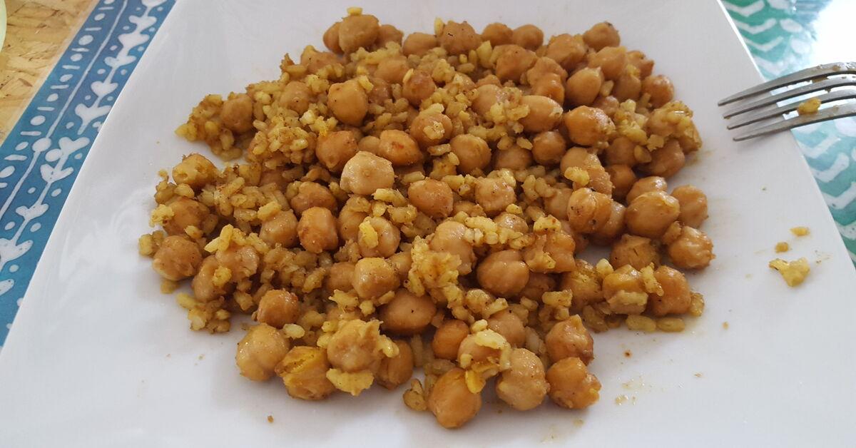 recetas de cocinar garbanzos de bote con arroz mytaste