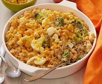 Broccoli and Cauliflower Gratin Mac n Cheese