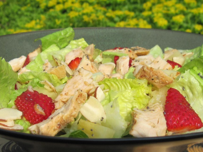 Panera's Strawberry Poppy Seed and Chicken Salad
