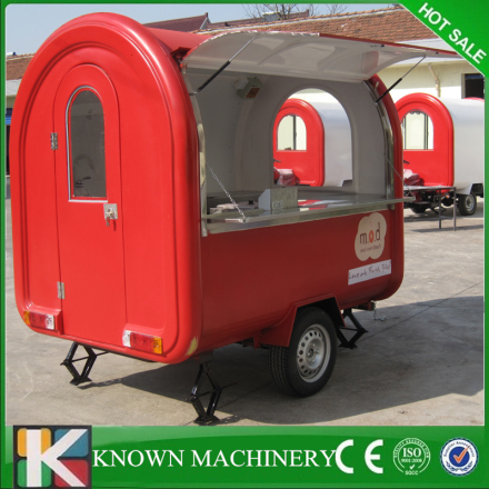 Hot sale Stainless steel Ice cream,Hamburger mobile food trailer mobile food cart truck for sale free shipping