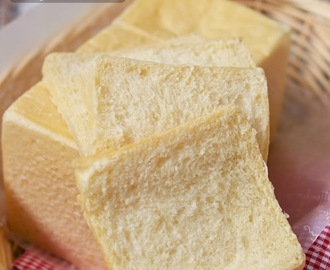 Super Soft and Fluffy White Crusted Japanese Square Bread ふわふわしっとり角食白パン