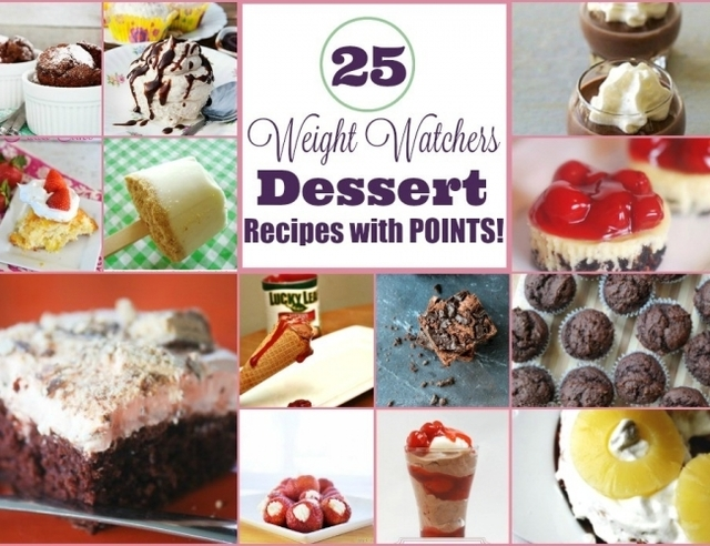 25 Weight Watchers Dessert Recipes with Points Plus
