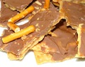 Chocolate Toffee Pretzel Crackers