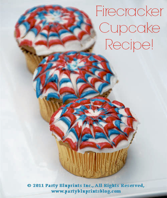 Easy Fourth Of July Dessert Idea – Firecracker Cupcakes