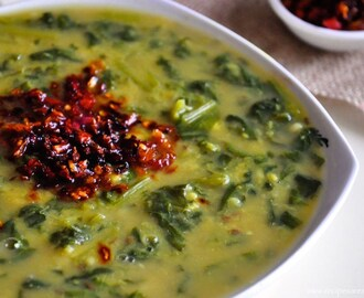 Dal Palak – Moong Dal Spinach Curry – Cheera Parippu