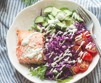 Cook Once, Eat Thrice {Meal Prep Friday}: Salmon + Tzatziki Sauce