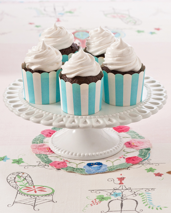 Chocolate Cupcakes with Boiled Frosting