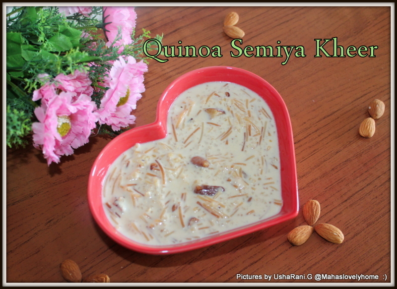 Quinoa Vermicelli Kheer | Quinoa Semiya payasam | Quinoa Recipes | Kheer With Condensd milk | Quick and easy quinoa dessert recipes | 15 Kheer recipes