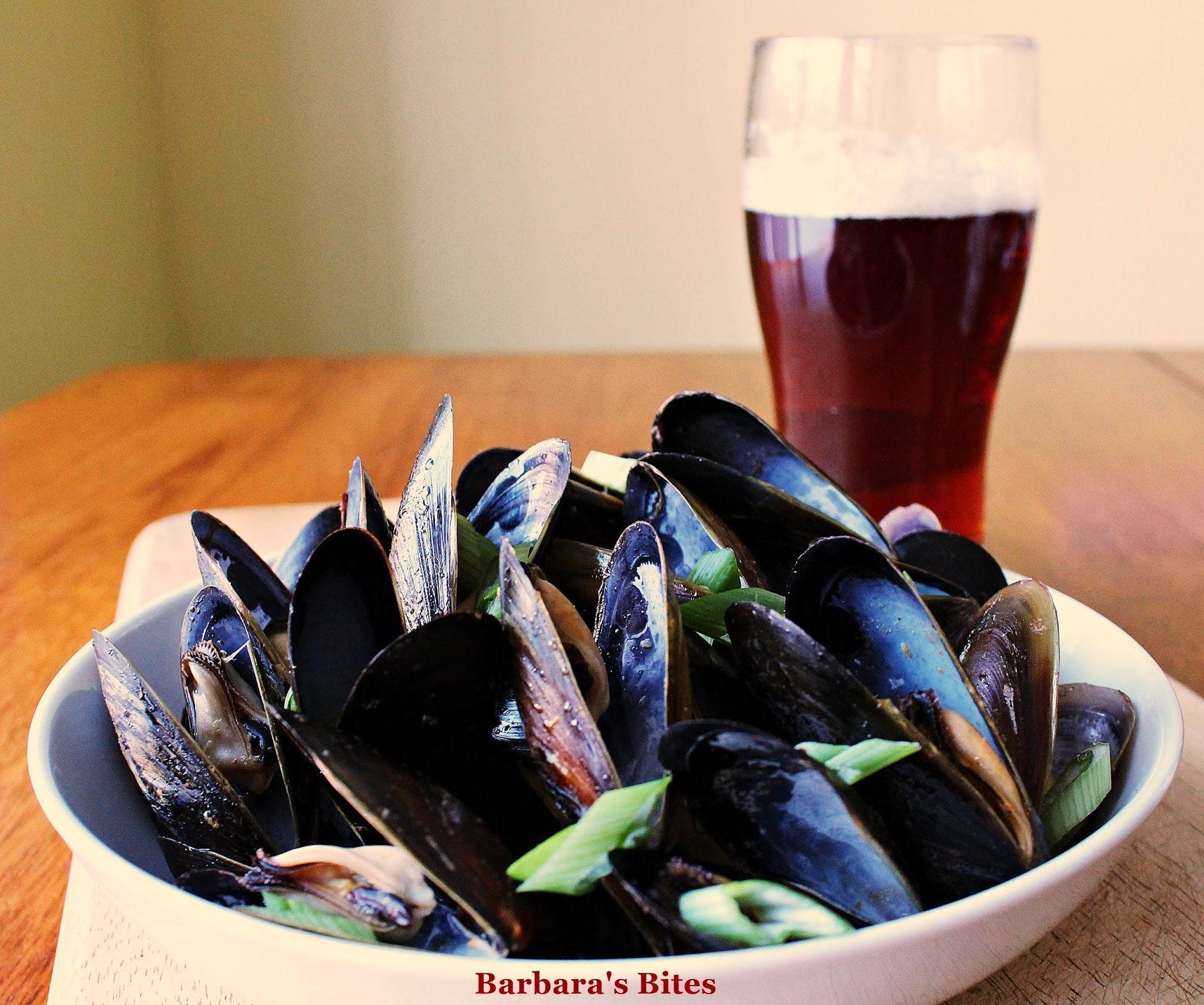 Beer-Steamed Mussels with an Asian Twist