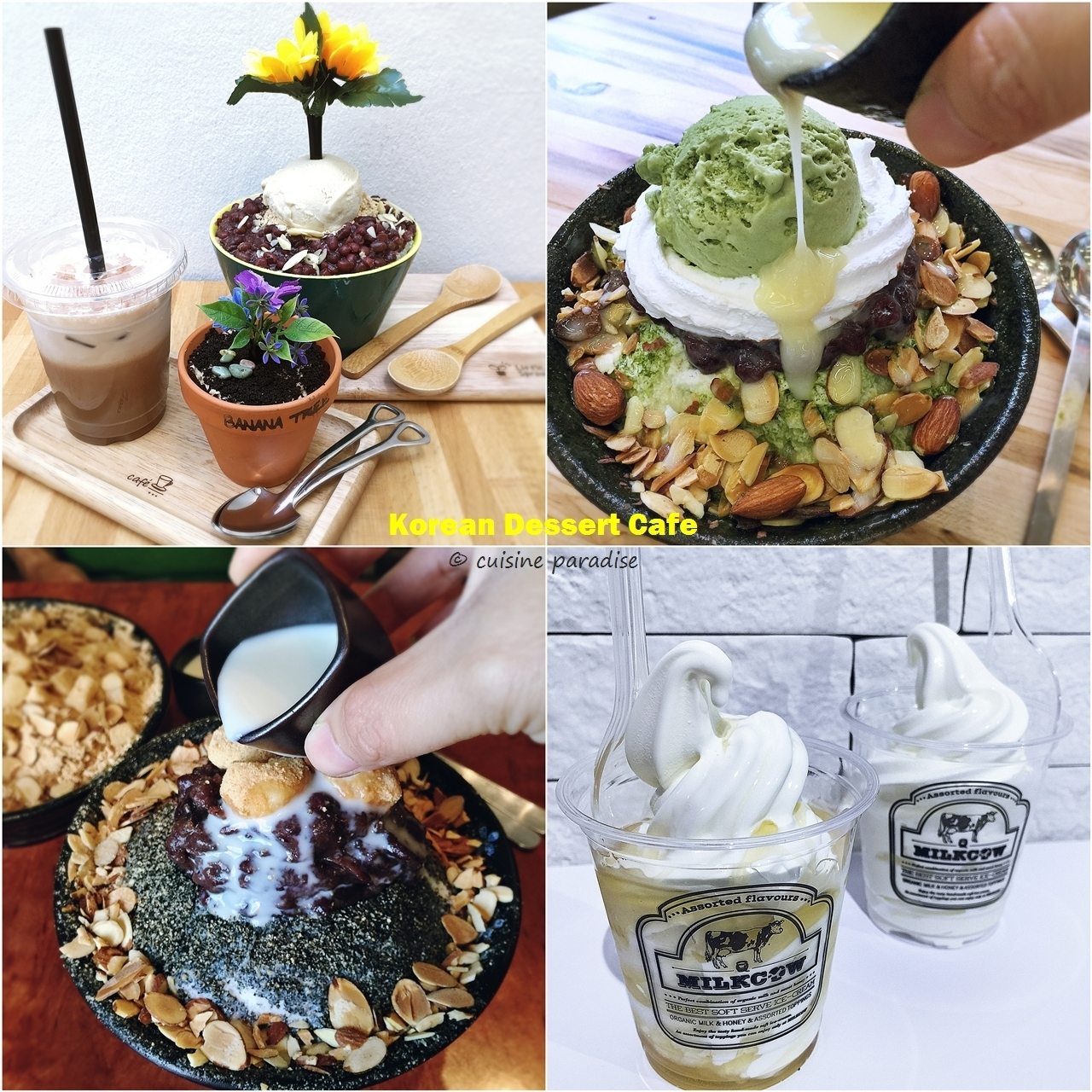 Korean Dessert In Singapore - Bingsu Vs Soft Serve Ice Cream