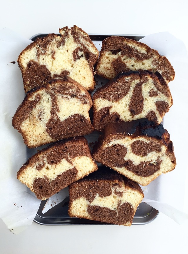 double chocolate marble cake.