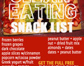 Free Clean Eating Snack List PDF