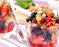 Happy Tummy Fruit Salad with Ginger Mint Glaze