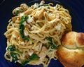 Linguine with Chicken, Spinach and Feta Cheese