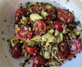 Avocado and Cherry Tomato Salad With Sunflower Seeds