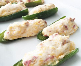 Skinny Vegetarian Jalapeño Poppers (Sponsored)