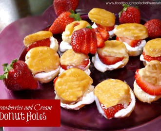 Strawberries and Cream Donut Holes