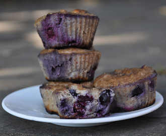 4 Ingredient Blueberry Cupcakes (Paleo, Flourless & Sugar-free)